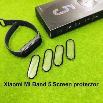 50Pcs Mi Band 5 Screen Protector Film For Xiaomi Mi Band5 Bracelet 3D Full-screen Overlay Protection Miband5 Protective Films protective pc clear screen films w cleaning cloth for xiaomi mione 1s transparent 6 pcs
