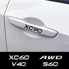 Für Volvo S60 XC90 V40 V50 V60 S90 V90 XC60 XC40 AWD T6 C30 C70 S80 V70 XC70 Auto Trim decals Auto Türgriff Aufkleber