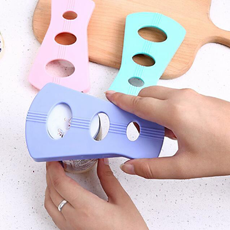 Openers Three-hole Pink Multi-function Convenient Anti-skid Labor-saving Can Opener Open Capping Tool Home Kitchen Gadgets
