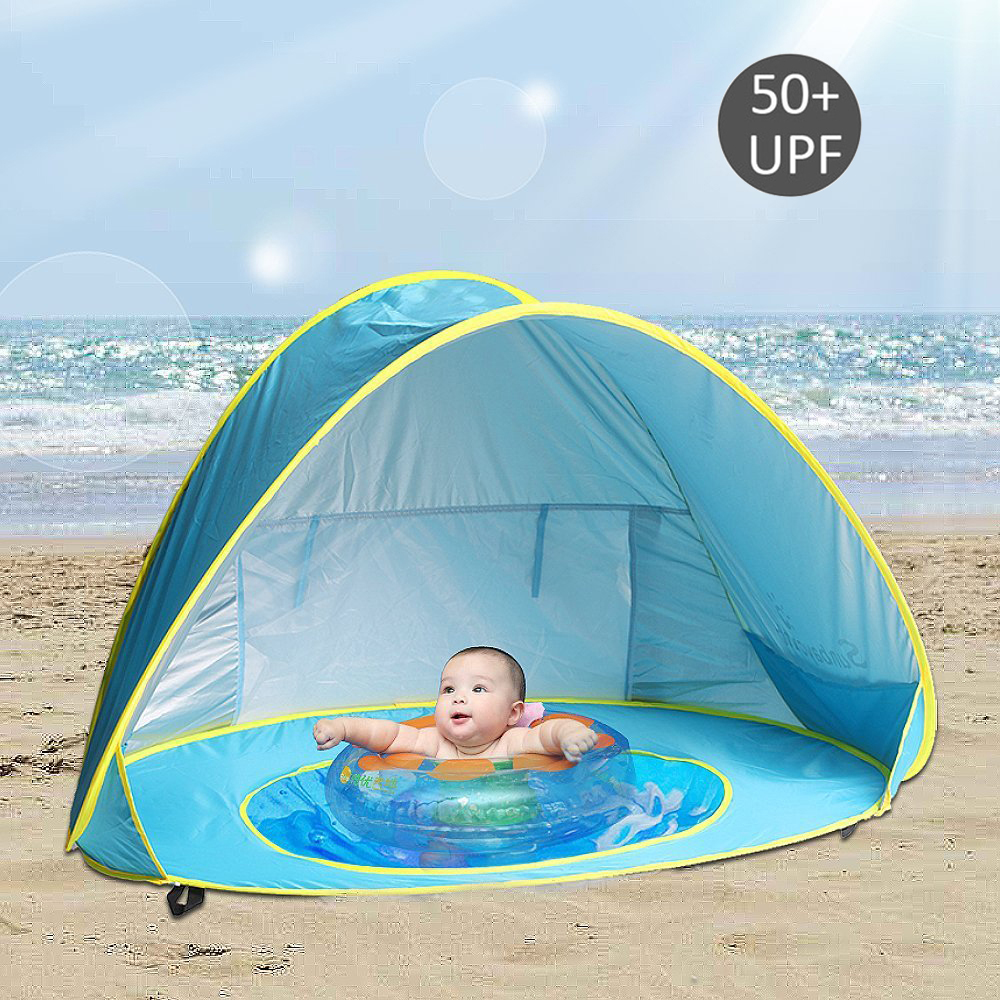 Uv-protection Children's Tent Baby Beach Tipi Teepee Portable Dry Pool Kids Tent Waterproof Outdoor Camping Playhouse Wigwam