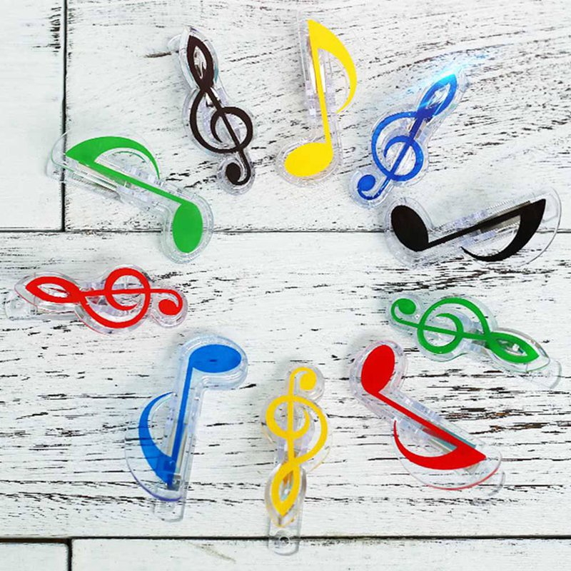 Plastic Musical Note Letter Paper Clip Piano Music Book Paper Sheet Spring Holder Folder Office School Supplies