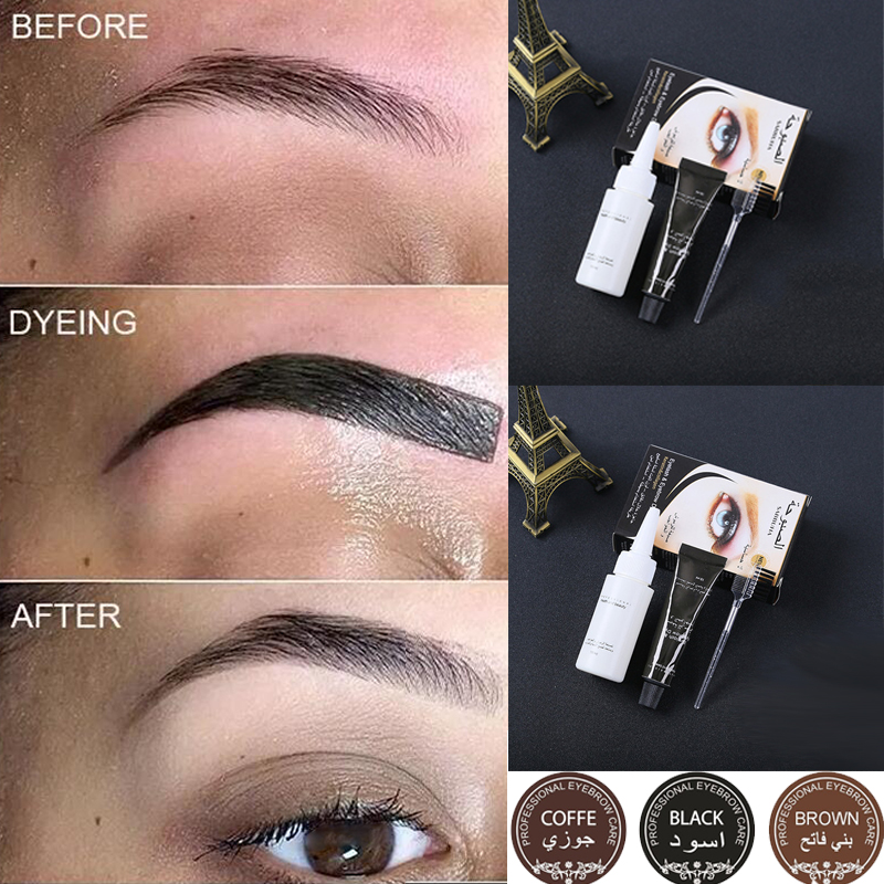 Eyebrow Tinting Thicker Natural Look Eyelash Dying Kit Permanent Bleaching Brow Tint Gel 3PCS SET