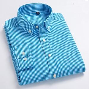 Image 4 - Nieuwe Aankomst mannen Oxford Wassen en Dragen Plaid Shirts 100% Katoen Casual Shirts Hoge Kwaliteit Fashion Design mannen jurk Shirts
