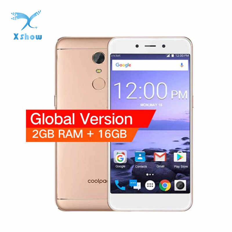 الإصدار العالمي Coolpad E2 الهاتف المحمول 5.0 بوصة بصمة 2GB 16GB هاتف محمول سنابدراجون 210 رباعية النواة 4G الهاتف الذكي