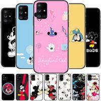 Disney Telefoon Case Romp Voor Samsung Galaxy A50 A51 A20 A71 A70 A40 A30 A31 A80 E 5G S zwart Shell Art Mobiele Cove