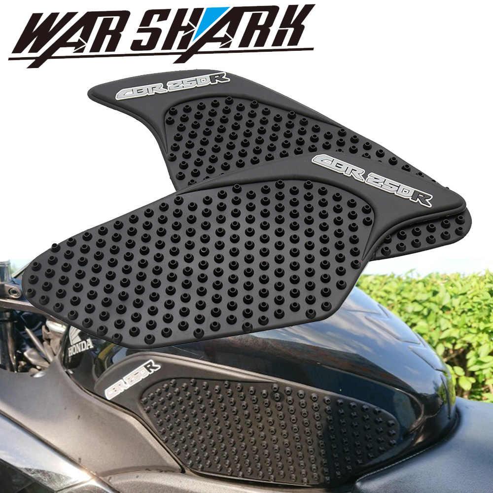Honda için CBR250R CBR 250R 2010-2016 Motosiklet Anti-kayma Tank Pedleri Sticker Yan Gaz Diz Kavrama Çekiş pedleri
