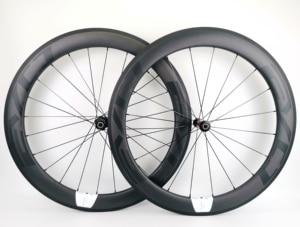 Image 1 - 700C 60 มม.ความลึกถนนจักรยานคาร์บอนล้อ 25 มม.ท่อ/Clincher Carbon wheelset UD Matte FINISH EVO decals