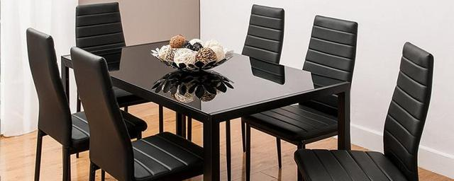 6PCS  Leather Dining Chairs  1