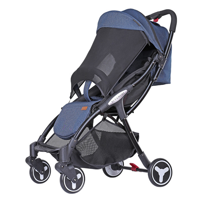 YOYAplus Yoyamini Four-Wheel Shock Absorption Stroller Portable Folding Baby Stroller One-Click Pickup With Large Storage Bag