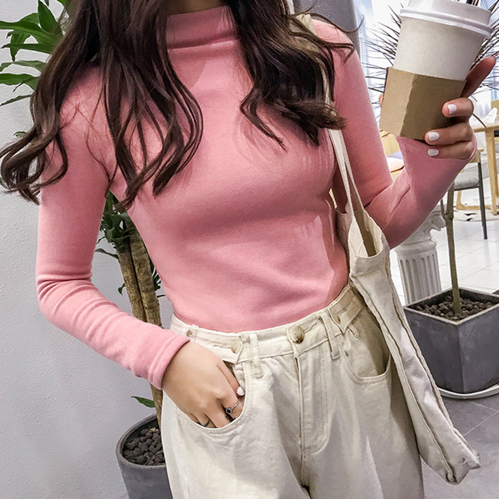 Women Slim Sweaters Turtleneck Knitted Pullovers Winter Female Elegant Long Sleeve Thin Jumper Tight Sexy Tops Casual Warm Knits