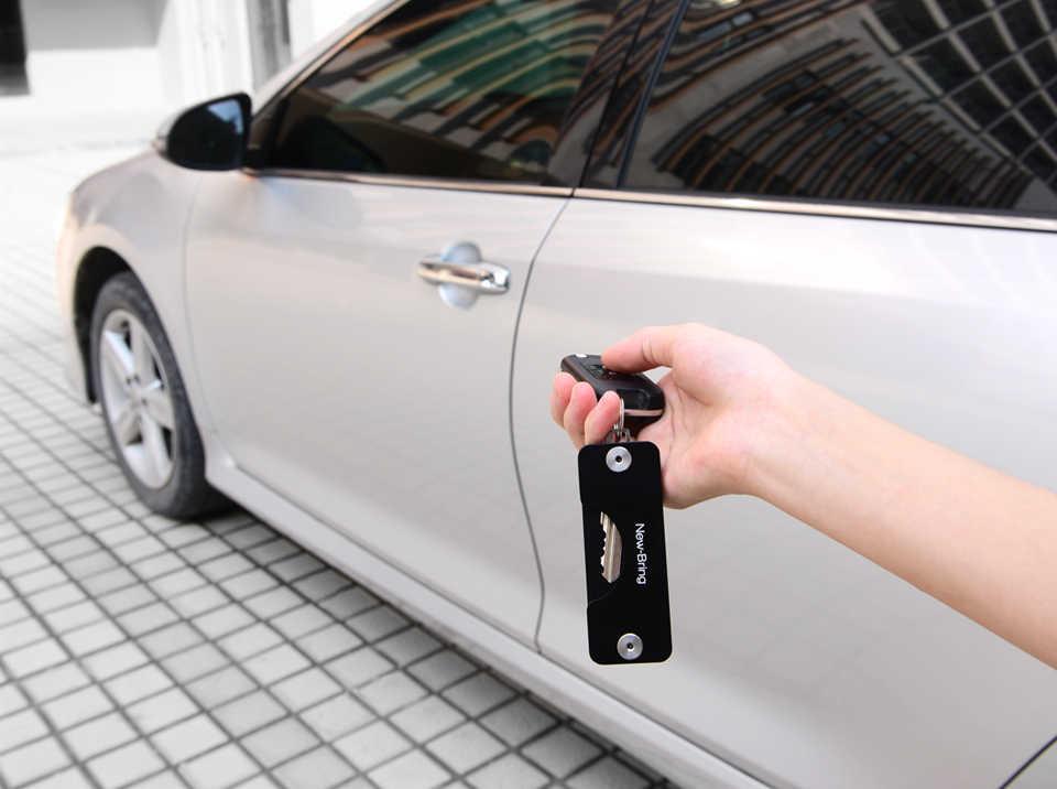 Newbring chave carteiras de alumínio metálico edc titular chave do carro inteligente governanta novo design edc chaves organizador chaveiro saco bolsa