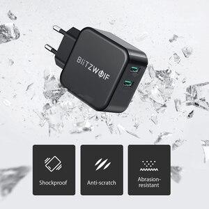 Image 3 - BlitzWolf QC3.0 USB adaptateur voyage mur ue prise chargeur téléphone portable chargeur rapide pour iPhone 11X8 Plus pour Samsung Smartphone