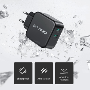 Image 3 - BlitzWolf QC3.0 USB מתאם נסיעות קיר האיחוד האירופי תקע מטען נייד טלפון מטען מהיר עבור iPhone 11X8 בתוספת עבור סמסונג Smartphone