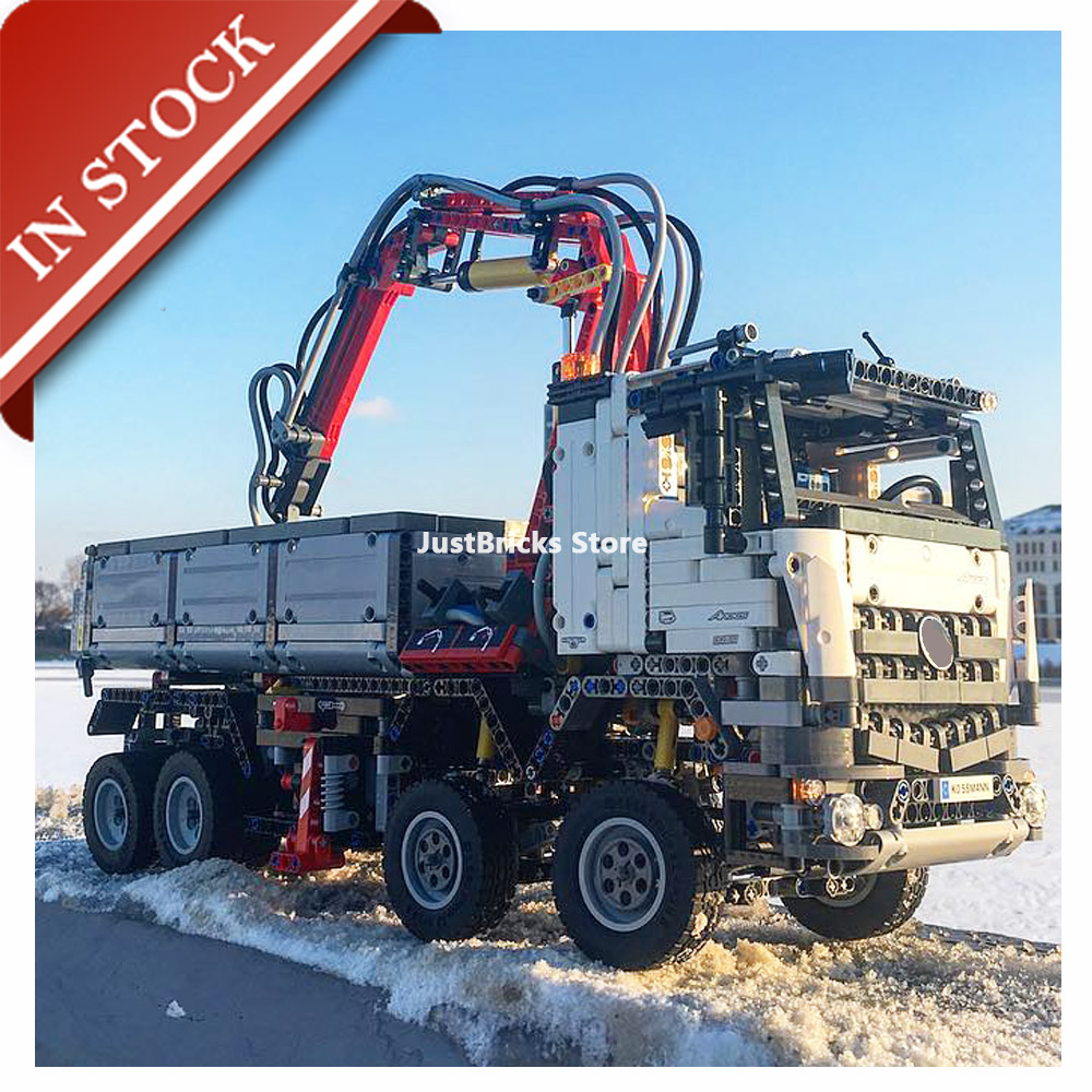 Technical Technic The Arocs Truck 42043 20005 In Stock Building Block 2793Pcs Bricks Toys Model 90005 Remote Control