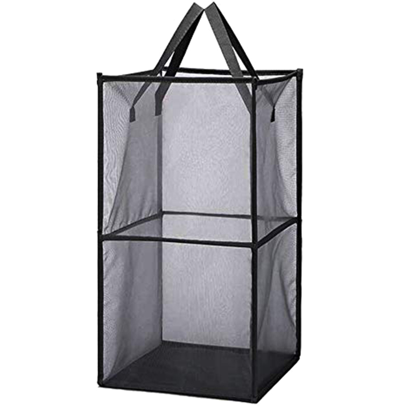 Mesh Laundry Hamper, Pop-Up Laundry Hamper With Durable Handles,Portable Square Mesh Laundry Baskets For Kids Rooms And College