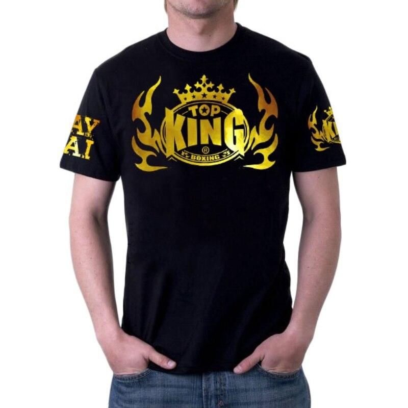 MMA Men's Comfortable, Breathable Cotton Sweatshirt Boxing Sanda Top King Muay Thai Shorts Kick Boxing Clothing Muaythai Shorts