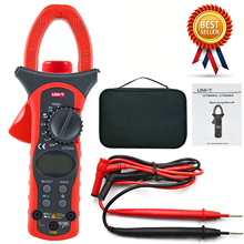 UNI-T UT205A professional 1000A AC Digital Clamp Meter Multitester Frequency Tester 40mm Jaw victor 6056e vc6056e digital clamp meter jaw open 55mm portable design can be one handed operation