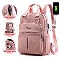 Рюкзаки для ноутбука для девочек  розовый мужской рюкзак с usb-зарядкой  Женский дорожный рюкзак  школьные сумки  сумка для мальчиков-подрост...