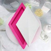Креативные геометрические силиконовые поднос горшка для цветов