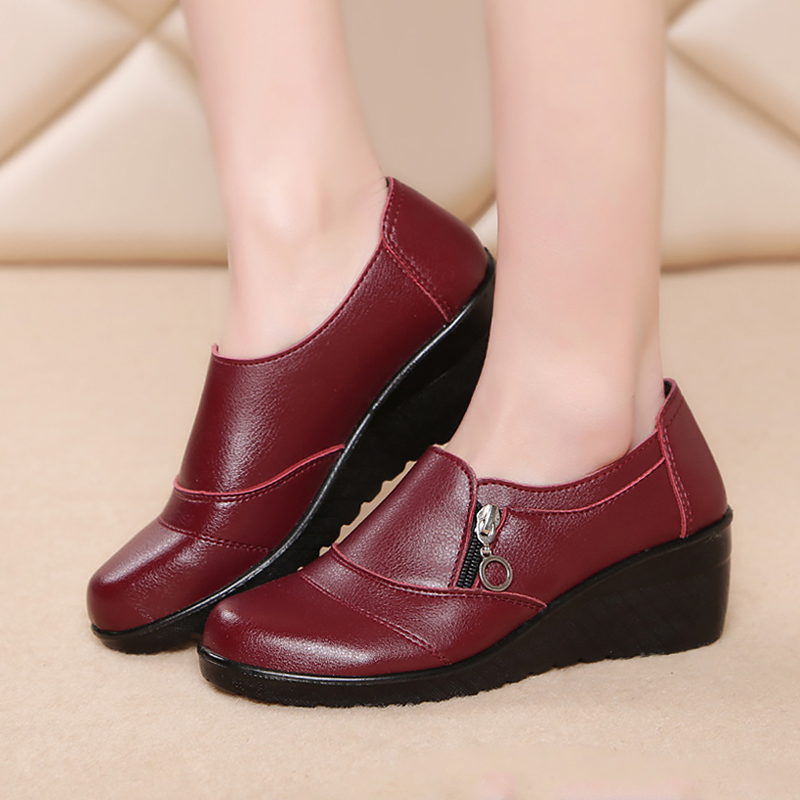 Wedges Shoes Women New Casual Winter for Comfortable Autumn Warm Soft Middle-Aged Cotton