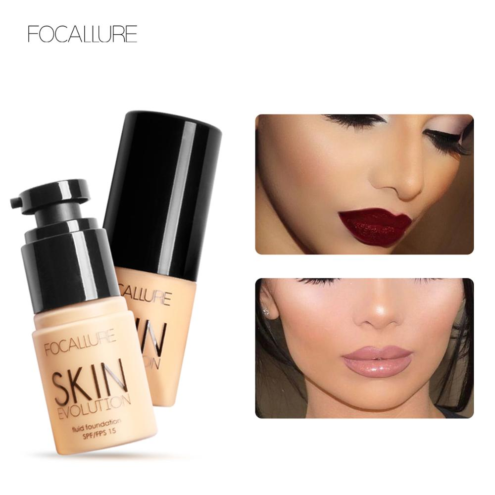 FOCALLURE Foundation BB Cream Waterproof Makeup 8 Colors Face Cosmetic Concealer Liquid Long-lasting Foundation