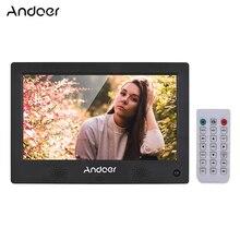 Andoer 10,1 дюймов цифровая фоторамка светодиодный экран цифровой фотоальбом Высокое разрешение 1024*600(16:9) часы HD видеоплеер