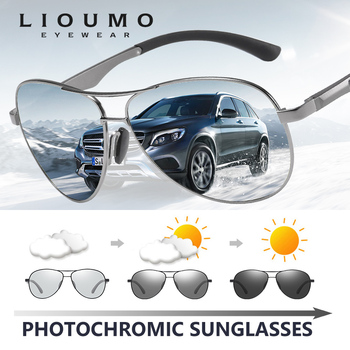 цена на Classic Brand Design Pilot Photochromic Sunglasses Men Polarized Safety Driving Sun Glasses Women Anti-Glare gafas de sol hombre