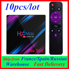 Europa Trasporto Libero dalla Spagna Francia 10pcs H96 MAX Android TV Box Smart Box Android 9.0 TV set top BOX box Media Player