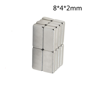 high performance Rare Earth Magnet Neodymium Magnet 8*4*2mm Strong Permanent Magnetic Square Block Magnet Custom Made DIY Magnet 1pc round block magnet 60 30mm super strong neodymium magnet permanent rare earth magnet