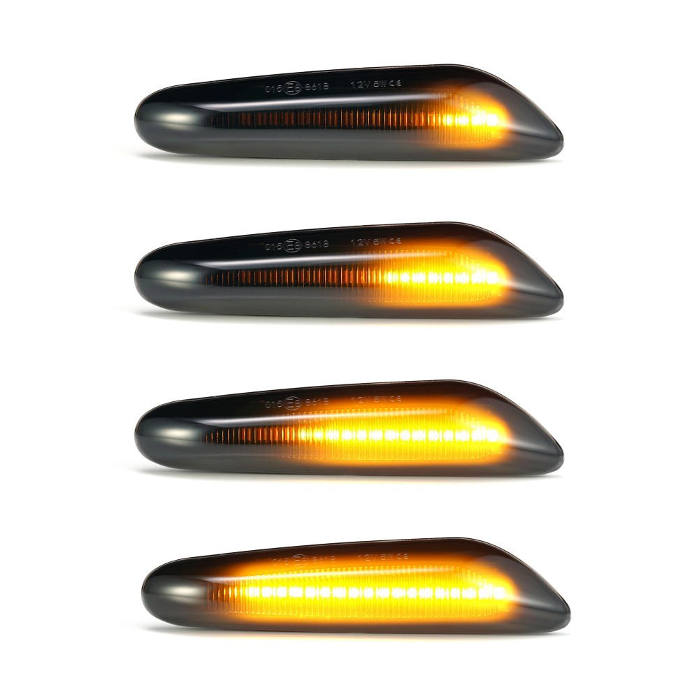 1 Pair Car Turn Signal Lights LED Turn Indicator Blinker Lamp Signal Lamp Side Marker For bmw E90 E91 E92 E93 E60 E87 E82 E46 image