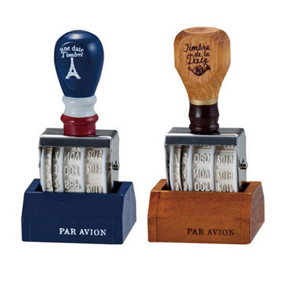 HOT SALES!!! Vintage Wooden Handle Date DIY Stamp Rolling Wheel Scrapbooking Stationery Decor