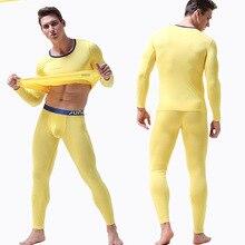 2 Piece/Set Long Johns for Male Warm Thermal Underwear Clothing Men Modal  Winter L- 3XL Thermal Suit Winter Long John