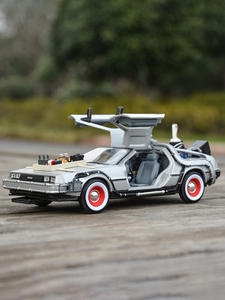 Welly Car Simulation-Diecast Alloy-Model Delorean-Time-Machine Back-To-The-Future 1:24-Dmc-12