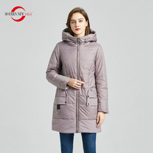 Puffer Jacket Parkas Women Coat Padded-Coat Hooded Spring Thin Autumn Long Cotton NEW