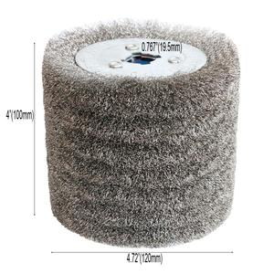 Image 5 - 1 piece Stainless Steel Wire Brush Wheel Wood Open Paint Polishing Deburring Wheel for Electric Striping Machine
