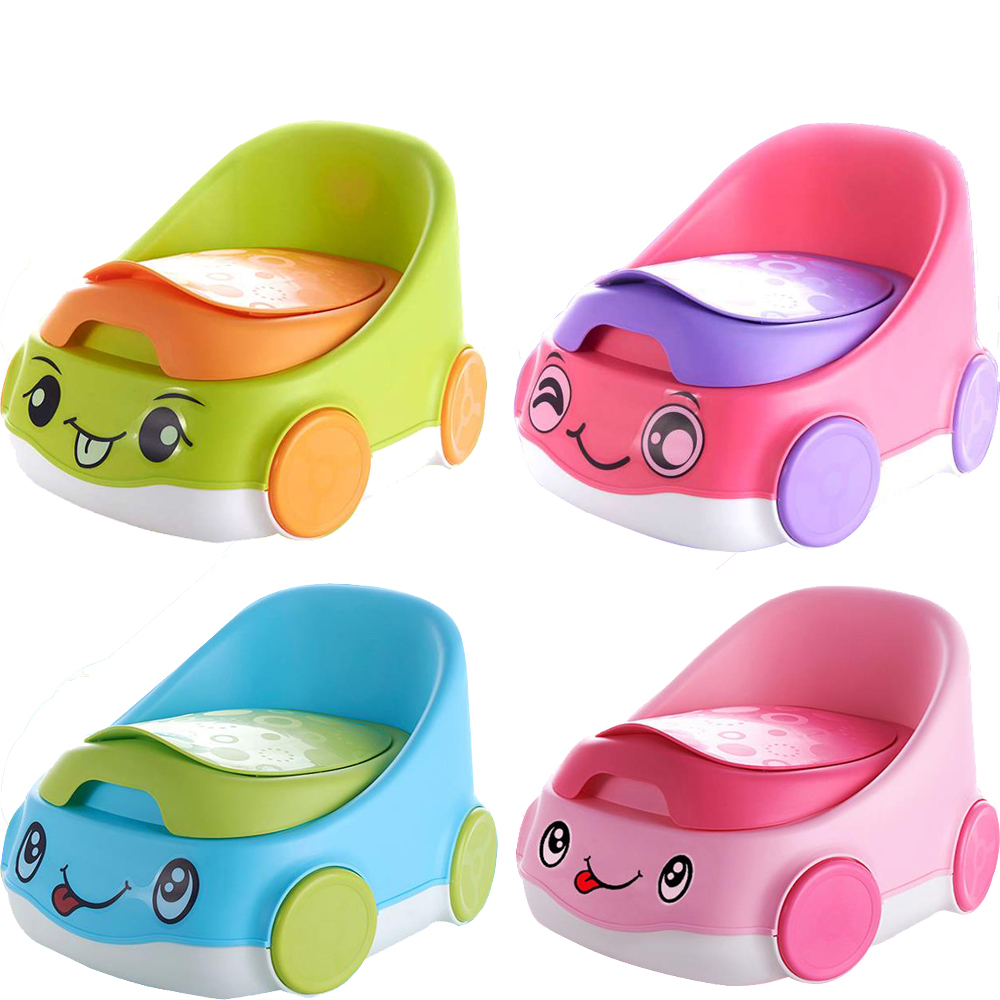 Lovely Car Kids Step Stool Toilet Training Seat Toddler Baby Potty Trainer
