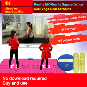 Image 3 - Wired Dancing Mat Pad Computer TV Slimming Dance Blanket with Two Somatosensory Gamepad a Colored Lights Version Pump It Up Game