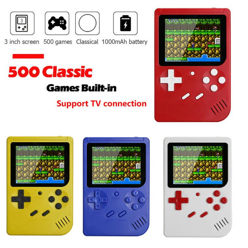 New 500 IN 1 Retro Video Game Console Handheld Game Handheld Games Console Player Progress Save/Load MicroSD card External
