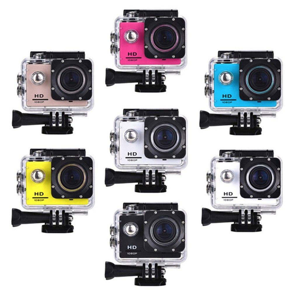 Videocamera sportiva da esterno Mini Sport Action Camera Ultra 30M 1080P casco subacqueo impermeabile videocamere Sport Cam