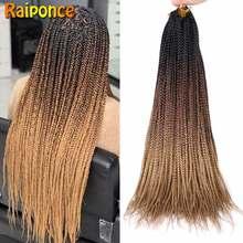 Raiponce – tresses synthétiques au Crochet ombré, 22 racines/paquet, Extension capillaire pour tresses africaines