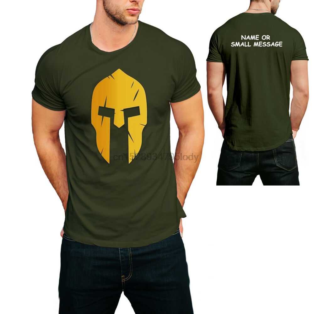 Spartan Helm Gym Premium T Shirt Bodybuilding Muskel Top Fitness Workout
