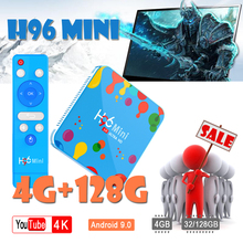 H96mini Smart tv box Android 9.0 2.4G/5G Wifi Bluetooth 4.0 H6 4k Full HD Media speler IPTV H96 mini Set-Top Box smart