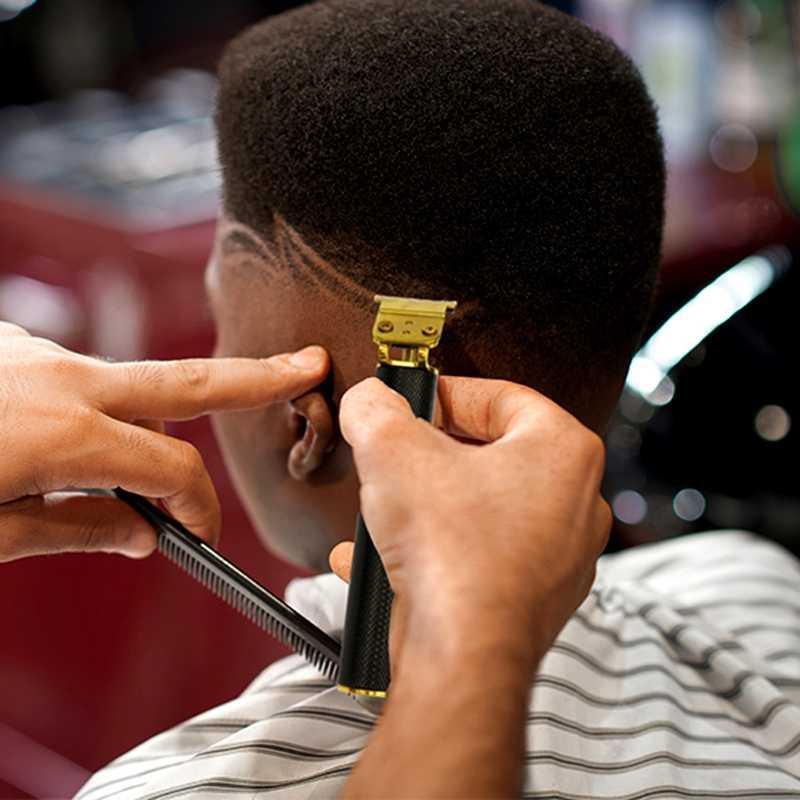 Cordless finishing haar trimmer professionelle barber shop haar clipper bart trimer für männer usb haar cutter maschine leistungsstarke kit