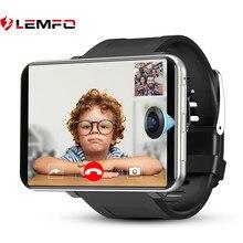 LEMFO – montre connectée LEMT pour les jeux 4G, 2021, grand écran 2.86 pouces, Android 7.1, 3 go de RAM, 32 go de ROM, LTE, caméra, GPS, WIFI, 2700MAH, pour hommes