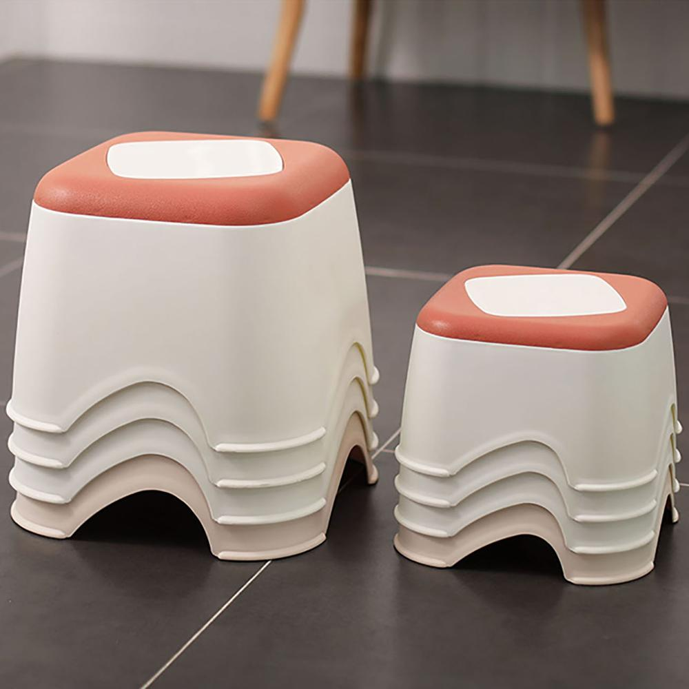 1PC Plastic Thicken Stool Household Coffee Table Change Shoe Bench Bathroom Child Non-slip Small Bench Square Stool Low Stool