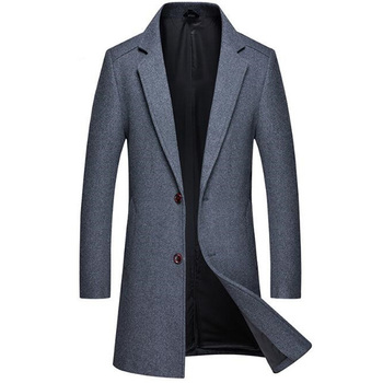 High Quality Autumn Winter Men's Jackets Wool Overcoat for Male Leisure Wool Worsted Cloth Coat Clothing Overcoat Men