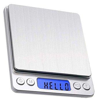 Бытовые электронные весы I2000, кухонные весы с питанием от батарейки, карманные ювелирные весы из нержавеющей стали с функцией подсветки