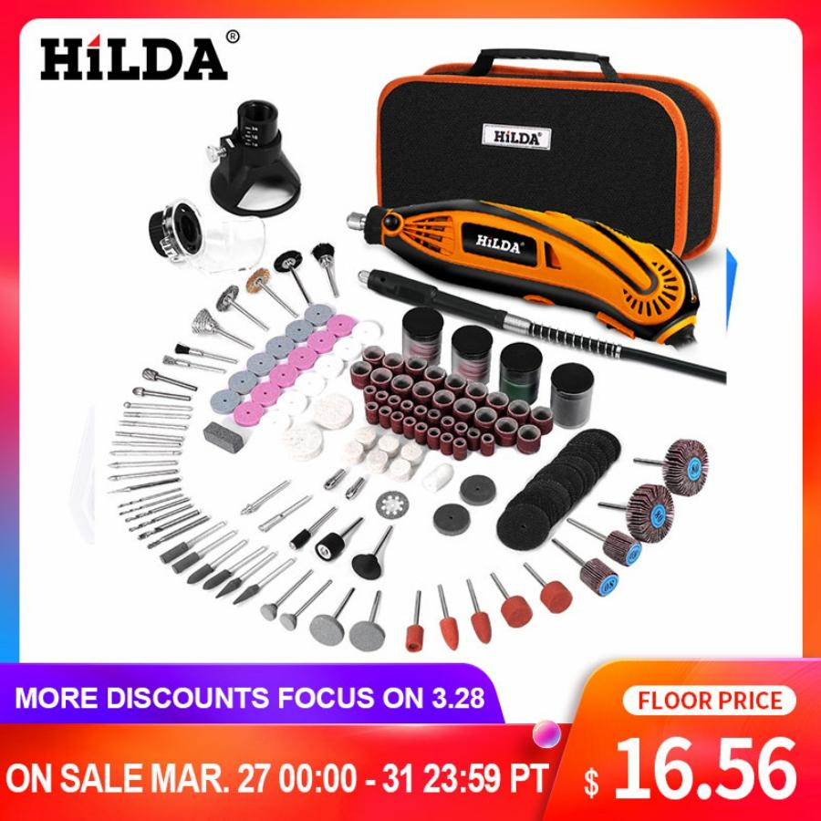 HILDA Electric Drill Dremel Grinder Engraving Pen Grinder Mini Drill Electric Rotary Tool Grinding Machine Dremel Accessories