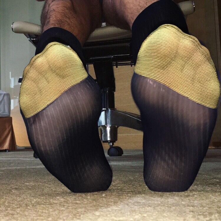 Male Dress Socks Gifts For Men Sheer Socks Exotic Formal Wear Suit Men Sexy Erotic Male Business Dress Socks