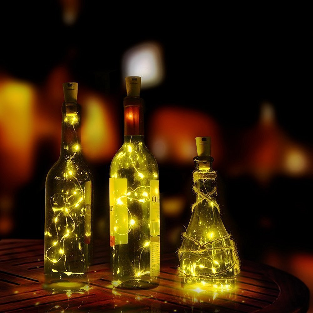 Wine Bottle Lights Copper Wire LED String Lights Holiday Lighting Fairy Garland For Christmas Tree Wedding Party Decoration